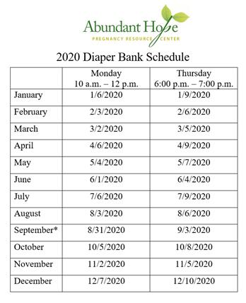 Diaper Bank 2020